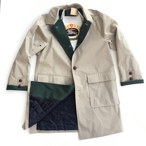 Burberry Waxed Cotton Gaberdine Car Coat Trench